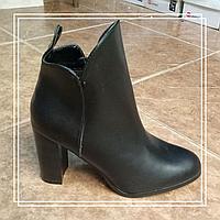 Женские демисезонные ботинки Loretta черная кожа Н566-3, 39, 40