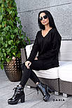 Женский стильный джемпер свободного кроя (в расцветках), фото 8