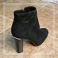 Женские демисезонные ботинки Lino Marano стрип черная замша L969-6, 37