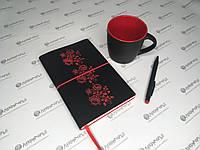 Стильный офисный набор «Софт-тач»: чашка, ручка и блокнот
