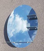 Зеркало овальное с полочками для ванной комнаты 75х55 см