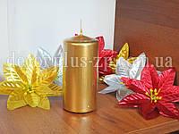 Свеча декоратив. цилиндр 10*5см, золото