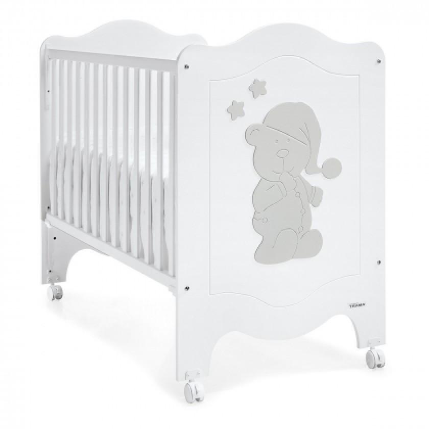Ліжечко Trama Sleepy Bear White/Silver