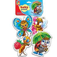 """Бэби-пазлы """"Веселые букашки"""", Vladi Toys, VT1106-82"""