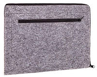 Чехол для ноутбука Gmakin Felt Cover horisontal for Macbook 13 new light grey GM67-13New, фото 1