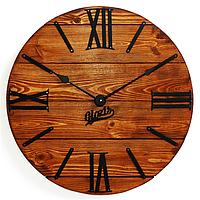 """Настенные Часы дерево-металл """"Nevada Rust"""" 40см немецкий механизм"""