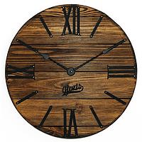 """Настенные Часы Деревянные металл""""Nevada Mokko"""" 40см немецкий мех."""