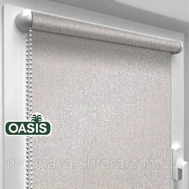 """Тканинні рулонні штори """"OASIS"""" ЗАЛИШИВШИСЬ (срібло 920) , РОЗМІР 82,5х170 см"""