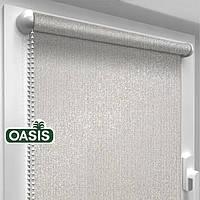 """Тканинні рулонні штори """"OASIS"""" ЗАЛИШИВШИСЬ (срібло 920) , РОЗМІР 82,5х170 см, фото 1"""