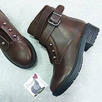 Демисезонные коричневые ботинки Violeta 33 размер