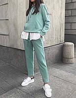 Женский прогулочный костюм бордо серый хаки мята мокко 42-44 44-46, фото 1