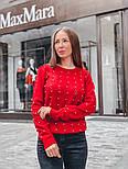 Женский стильный джемпер с жемчугом (в расцветках), фото 10