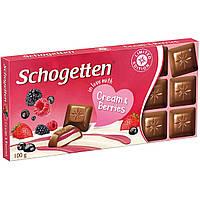Шоколад Schogetten Cream&Berries  Германия, 100г