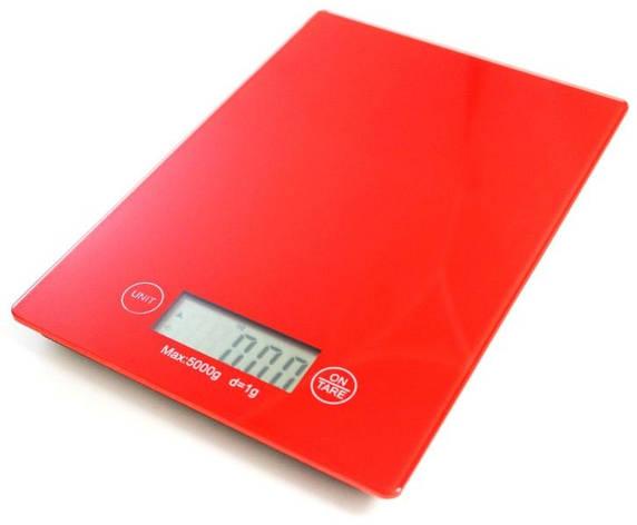 Весы кухонные электронные Electronic Kitchen Scale (Красный), фото 2