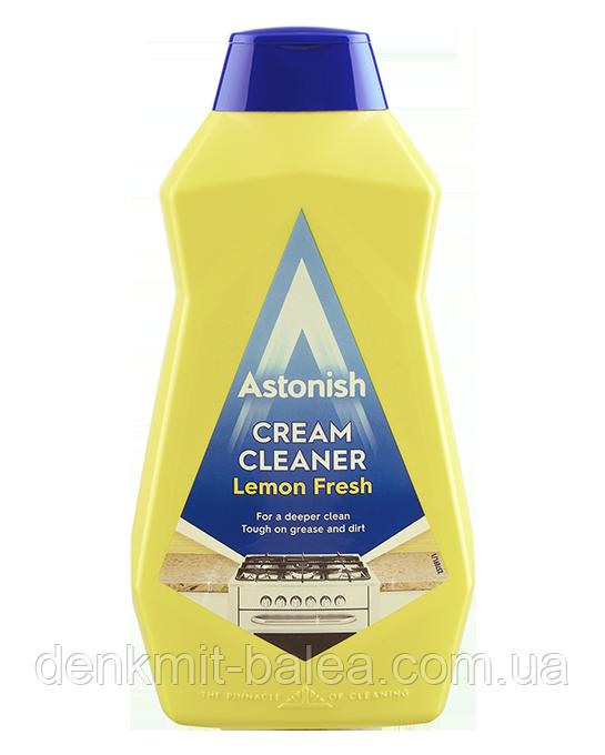 Паста для мытья поверхностей на кухне и в ванной Astonish Cream Cleaner Lemon Fresh 500 мл.