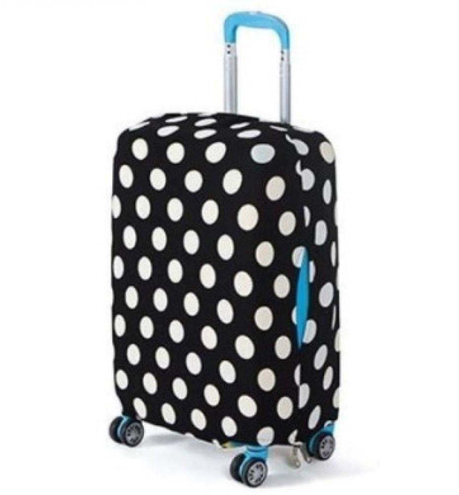 Защитный чехол для маленького чемодана Bonro. Размер S. Горошек.