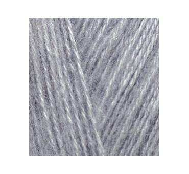 ANGORA GOLD 614 серый меланж - 20% шерсть, 80% акрил