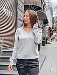 Женский стильный базовый джемпер/свитер с V-образной горловиной (в расцветках), фото 2