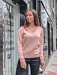 Женский стильный базовый джемпер/свитер с V-образной горловиной (в расцветках), фото 4