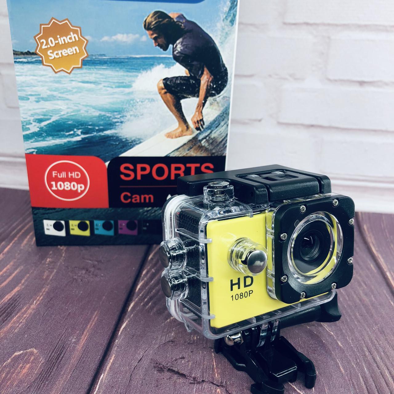Экшн-камера А7 Sports Full HD 1080P (цвет желтый)