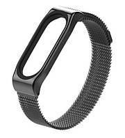 Ремешок для спортивного браслета Mijobs Metal Milanese SE Band for Xiaomi Mi Band 4/3 Black