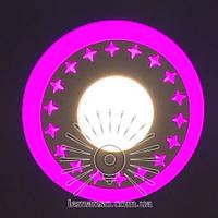 """LED панель Lemanso """"Звезды"""" 6+3W с розовой подсветкой 540Lm 4500K 175-265V / LM540, фото 1"""