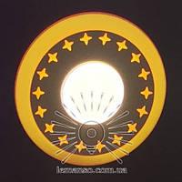 """LED панель Lemanso """"Звезды"""" 6+3W с жёлтой подсветкой 540Lm 4500K 175-265V / LM540, фото 1"""