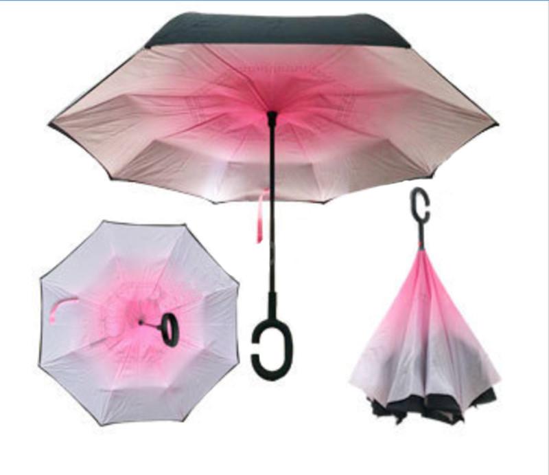 Зонт обратного сложения Up-brella Градиент розовый №55