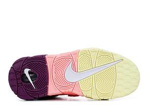 """Кроссовки Nike Air More Uptempo """"Желтые / Розовые / Пурпурные"""", фото 3"""