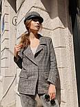 """Женский стильный пиджак в клетку и """"гусиную лапку"""" шерстяной твид (в расцветках), фото 2"""