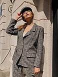 """Женский стильный пиджак в клетку и """"гусиную лапку"""" шерстяной твид (в расцветках), фото 3"""