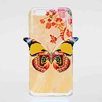Чехол силиконовый перламутровый Fashion для Apple iPhone 6 Бабочка, фото 1