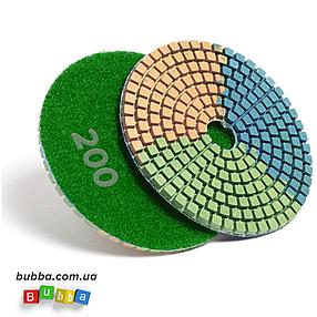 Алмазный гибкий шлифовальный круг ЧЕРЕПАШКА, АГШК зернистость 200, d 100мм, фото 2