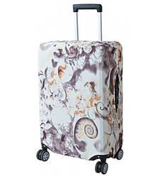 Защитный чехол для маленького чемодана Bonro. Размер S. Коричневый узор.