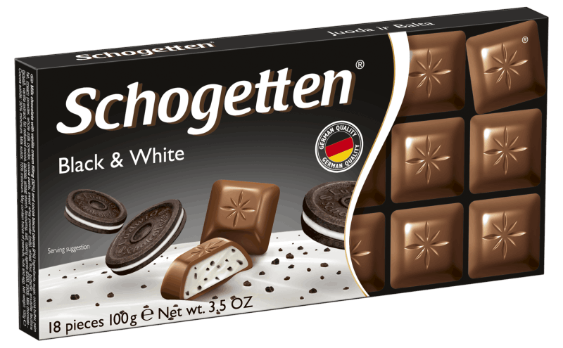 Шоколад Schogetten Black and White молочный 100 г