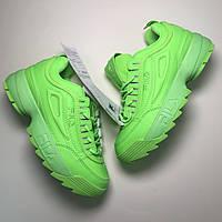 Женские кроссовки  Fila Disruptor 2 Green Neon