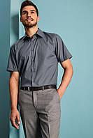 Рубашка для официанта мужская темно-серая с коротким рукавом Atteks - 02318