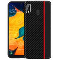 Чехол накладка Primo Cenmaso для Samsung Galaxy A20 2019 (SM-A205) / A30 2019 (SM-A305) - Black&Red, фото 1
