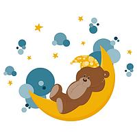 Виниловая Наклейка Glozis Sleeping Bear (E-113)