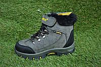 Детские зимние ботинки сапоги на мальчика хаки р31 - 35
