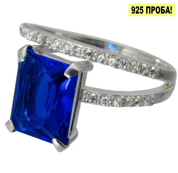 """Серебряное кольцо с фианитами """"Желание"""", фото 1"""