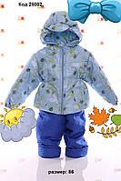 """Демисезонный костюм  модель """"Крошка""""  пчелка голубой цветной, фото 1"""