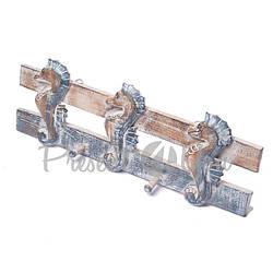 Деревянная вешалка «Морской конек», h-20х50 см. (20318e)