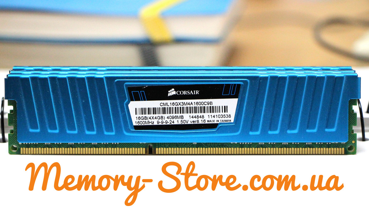 Оперативная память для ПК Corsair DDR3 4Gb 2Rx8 PC3-12800 1600MHz, Intel и AMD, б/у