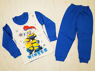 Пижама для мальчика на байке, котон 100%, Украина, Детки- текс, рр. 86-92, арт. 0307,