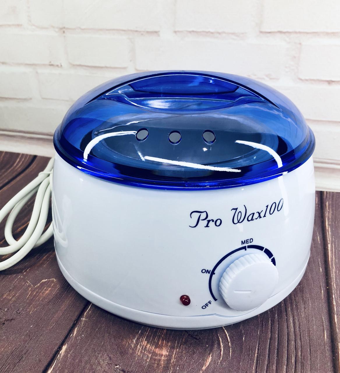 Воскоплав баночный с терморегулятором PRO-WAX 100 для воска в банке, в гранулах, в таблетках 400 мл