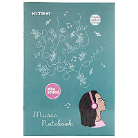 Тетрадь для нот Kite BeSound K19-404-2, А4, 20 листов