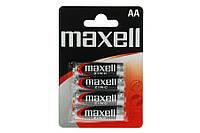 Батарейка AA Maxell R6 в блистере 1шт (4шт в уп.)