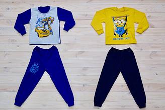 Пижама для мальчика на байке, котон 100%, Украина, Детки- текс, арт. 0308