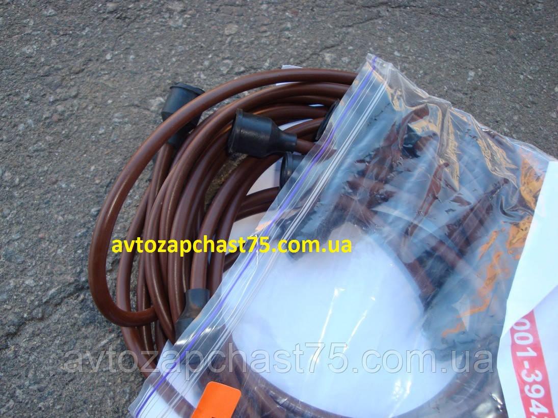 Провода зажигания Зил 130, медь , коричневые 9 штук (ЧП Струм, Украина)